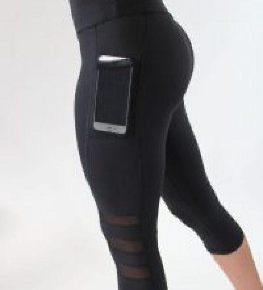 Legging de sport court avec poche