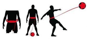 Ceinture d'entraînement ajustable pour football - shootball - kickball