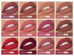 Rouge à Lèvres Mat et Brillant 2 en 1 -Variations de couleurs - malakaya.com