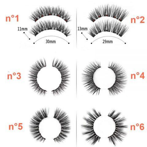 Kit Eyeliner et Cils Magnétiques , les modèles disponibles