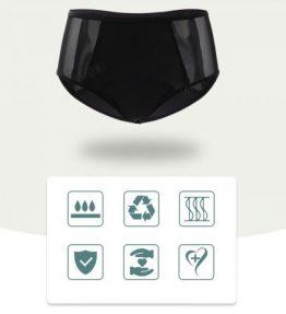 Culotte Menstruelle Absorbante - Coté Transparant